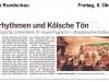 Kölnische Rundschau zur Präsentation 2012